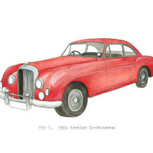 fig 1. 1954 Bentley Continental